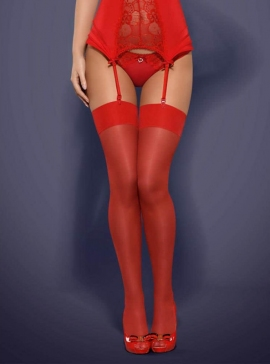 Stockings red L/XL